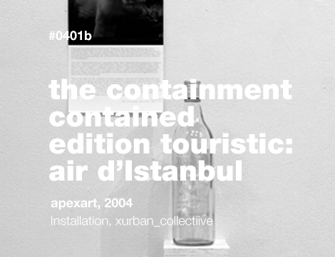 The Containment Contained / Édition touristic: Air D'Istanbul in a Raki bottle