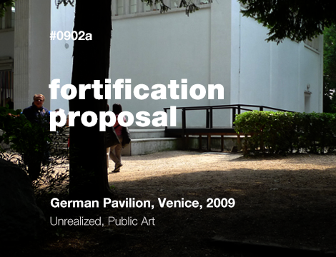 Fortification (as Beautification) Proposal to Artist Liam Gillick
